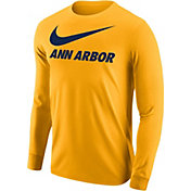 Nike Men's Ann Arbor Gold City Long Sleeve T-Shirt