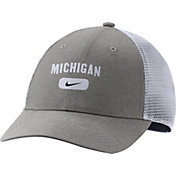 Nike Men's Michigan Wolverines Grey Legacy91 Trucker Hat
