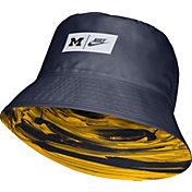 Nike Men's Michigan Wolverines Blue Dri-FIT Spring Break Reversible Bucket Hat