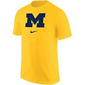 Nike Men's Michigan Wolverines Maize Core Cotton Logo T-Shirt