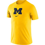 Nike Men's Michigan Wolverines Maize Essential Logo T-Shirt
