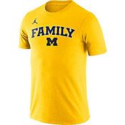 Jordan Men's Michigan Wolverines Maize Family T-Shirt
