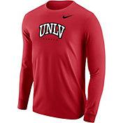 Nike Men's UNLV Rebels Scarlet Core Cotton Graphic Long Sleeve T-Shirt