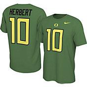 Nike Men's Oregon Ducks Justin Herbert #10 Green Football Jersey T-Shirt