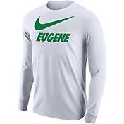 Nike Men's Eugene City Long Sleeve White T-Shirt