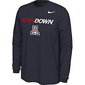 Nike Men's Arizona Wildcats Navy Bear Down Mantra Long Sleeve T-Shirt
