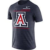 Nike Men's Arizona Wildcats Navy Dri-FIT Velocity Football Sideline T-Shirt