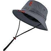 Nike Men's USC Trojans Grey Dri-FIT Football Sideline Bucket Hat