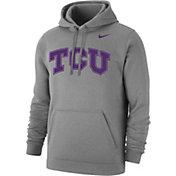 Nike Men's TCU Horned Frogs Grey Club Fleece Hoodie