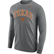 Nike Men's Texas Longhorns Grey Core Cotton Long Sleeve T-Shirt