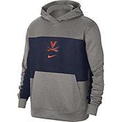 Nike Men's Virginia Cavaliers Grey Dri-FIT Spotlight Pullover Hoodie