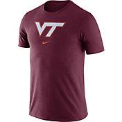 Nike Men's Virginia Tech Hokies Maroon Essential Logo T-Shirt
