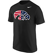 Nike Men's Iowa Hawkeyes Patriotic Core Cotton Black T-Shirt