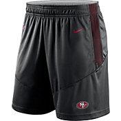 Nike Men's San Francisco 49ers Sideline Dri-FIT Black Performance Shorts
