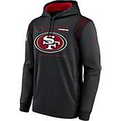 Nike Men's San Francisco 49ers Sideline Therma-FIT Black Pullover Hoodie