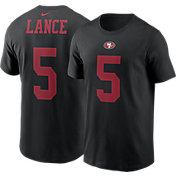 Nike Men's San Francisco 49ers Trey Lance #5 Black T-Shirt