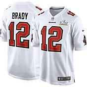 Nike Men's Tampa Bay Buccaneers Tom Brady #12 Super Bowl LV Bound White Game Jersey
