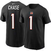 Nike Cincinnati Bengals Ja'Marr Chase #1 Black Short-Sleeve T-Shirt
