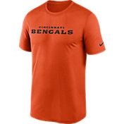 Nike Men's Cincinnati Bengals Legend Wordmark Orange Performance T-Shirt