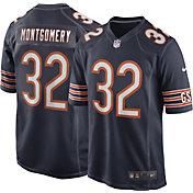 Nike Men's Chicago Bears David Montgomery #32 Navy Game Jersey