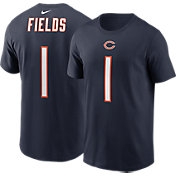 Nike Adult Chicago Bears Justin Fields #1 Navy Short-Sleeve T-Shirt
