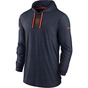 Nike Men's Chicago Bears Sideline Dri-FIT Hooded Long Sleeve Navy T-Shirt