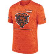 Nike Men's Chicago Bears Sideline Legend Velocity Orange Performance T-Shirt