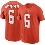 Nike Men's Cleveland Browns Baker Mayfield #6 Orange T-Shirt