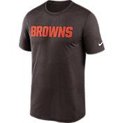 Nike Men's Cleveland Browns Legend Wordmark Brown Performance T-Shirt