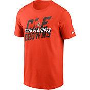 Nike Men's Cleveland Browns 2020 Playoffs Icon Orange T-Shirt