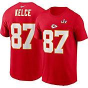 Nike Men's Kansas City Chiefs Travis Kelce #87 Super Bowl LV Bound T-Shirt