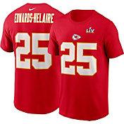 Nike Men's Kansas City Chiefs Clyde Edwards-Helaire #25 Super Bowl LV Bound T-Shirt