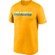 Nike Men's Los Angeles Chargers Legend Wordmark Gold Performance T-Shirt