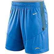 Nike Men's Los Angeles Chargers Sideline Dri-FIT Italy Blue Performance Shorts