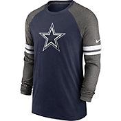 Nike Men's Dallas Cowboys Navy Dri-FIT Raglan Long Sleeve T-Shirt