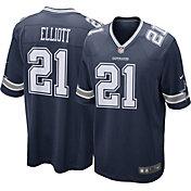 Nike Men's Dallas Cowboys Ezekiel Elliott #21 Navy Game Jersey