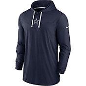 Nike Men's Dallas Cowboys Sideline Hoodie Navy Long Sleeve Shirt