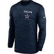 Nike Men's Dallas Cowboys Sideline Legend Velocity Navy Long Sleeve T-Shirt