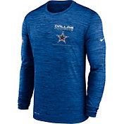 Nike Men's Dallas Cowboys Sideline Legend Velocity Royal Long Sleeve Shirt