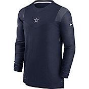 Nike Men's Dallas Cowboys Sideline Player Navy Long Sleeve Shirt