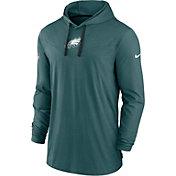 Nike Men's Philadelphia Eagles Sideline Dri-FIT Hooded Long Sleeve Teal T-Shirt
