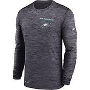 Nike Men's Philadelphia Eagles Sideline Legend Velocity Black Long Sleeve T-Shirt