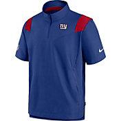 Nike Men's New York Giants Coaches Sideline Short Sleeve Blue Jacket