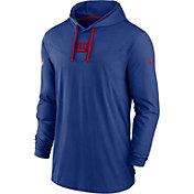 Nike Men's New York Giants Sideline Dri-FIT Hooded Long Sleeve Blue T-Shirt