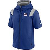 Nike Men's New York Giants Sideline Showout Full-Zip Short-Sleeve Hoodie