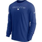 Nike Men's New York Giants Sideline Team Issue Blue Long Sleeve T-Shirt