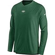 Nike Men's New York Jets Sideline Coaches Green Long Sleeve T-Shirt