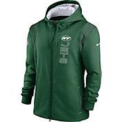 Nike Men's New York Jets Sideline Therma-FIT Full-Zip Green Hoodie