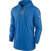 Nike Men's Detroit Lions Sideline Dri-FIT Hooded Long Sleeve Blue T-Shirt