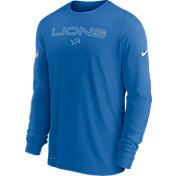 Nike Men's Detroit Lions Sideline Team Issue Blue Long Sleeve T-Shirt